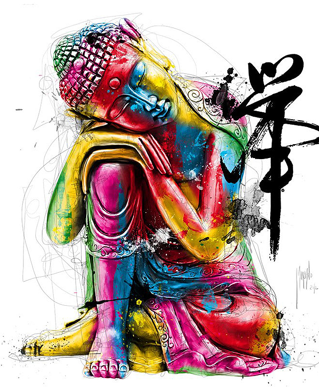Colorful Buddha by Patrice Murciano